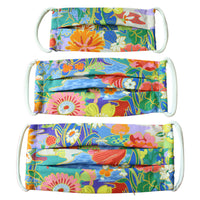 Cotton Mask in Sunshine Meadow Liberty London Print