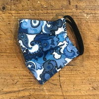 Adult Cotton Mask in Moody Blue Tapestry Liberty London Print