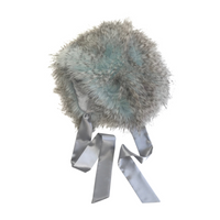 Blue Ostrich Bonnet