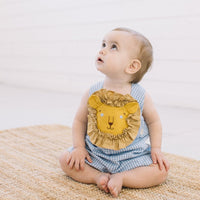 Friendly Lion Romper-littlegoodallcom-Little Goodall Unique Designer Childrenswear for Boys and Girls
