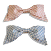 Pink or Blue Gingham Bow