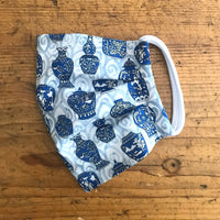Ladies Cotton Mask in Liberty London Blue Porcelain Jars Print