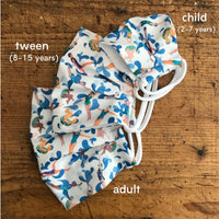 Cotton Mask in Liberty London Swimmers Print