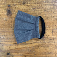 Adult Cotton Mask in Grey Herringbone Flannel
