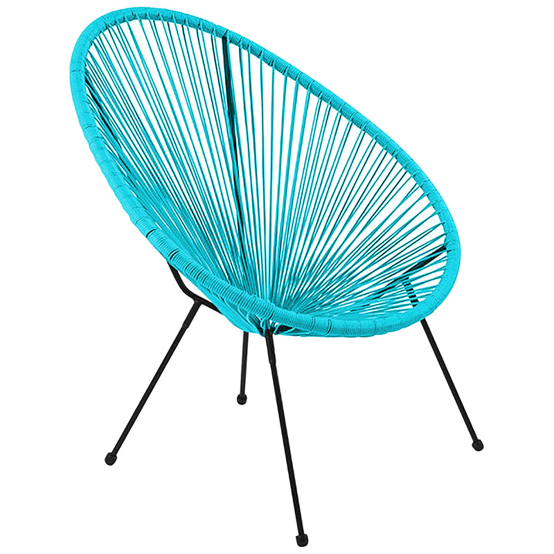 Rattan Egg Chair - Blue