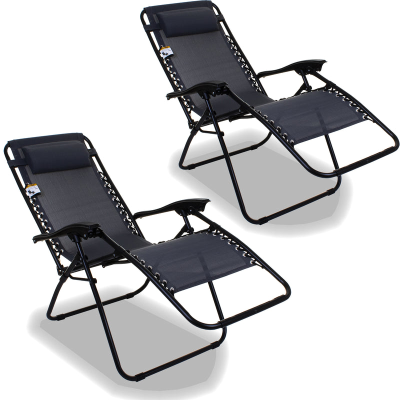 Reclining Sun Lounger - Grey
