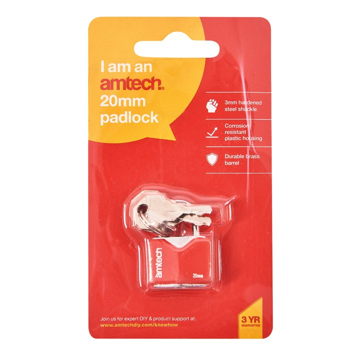 20mm Rhombic Chrome Plated Iron Padlock