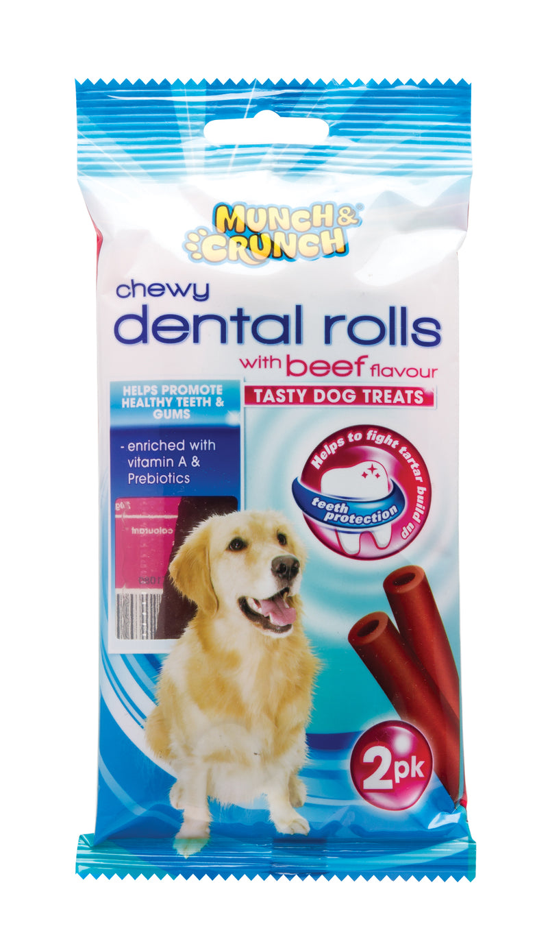 Chewy Dental Bone with Beef Flavour 2pk