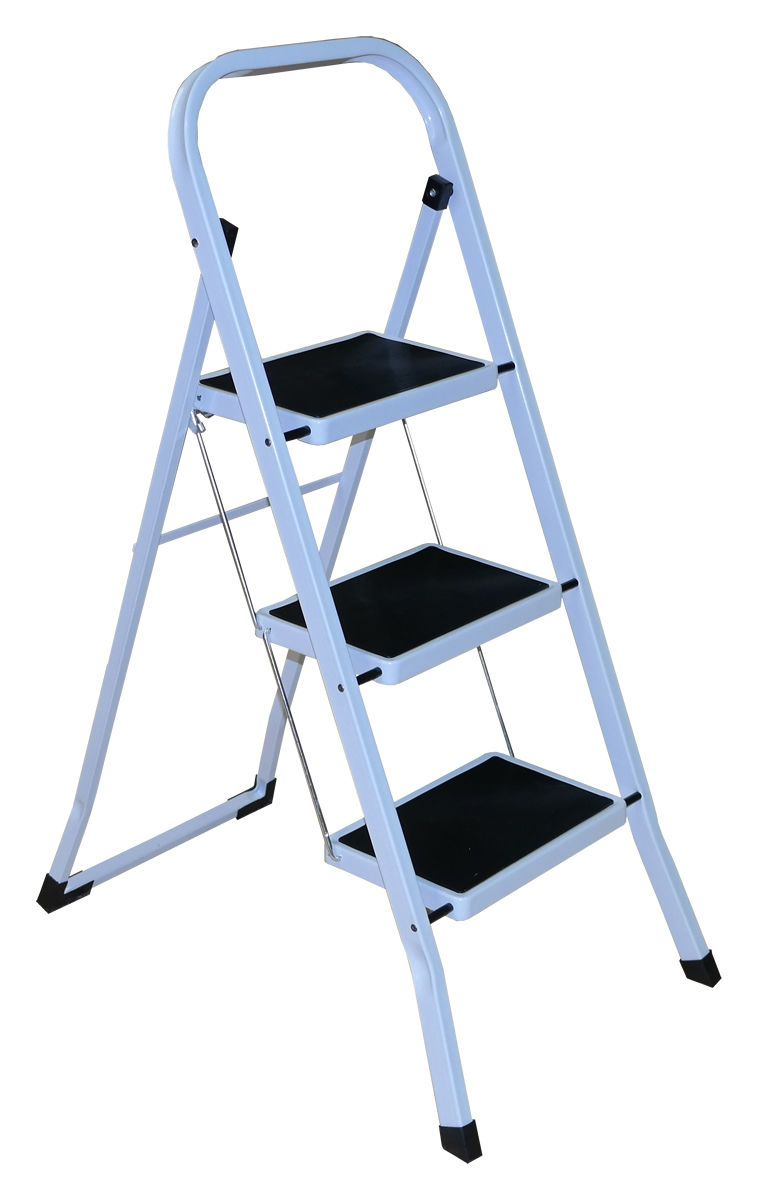 3 Step White Ladder - In Store