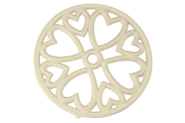 Cast Iron Trivet Mini Round Cream