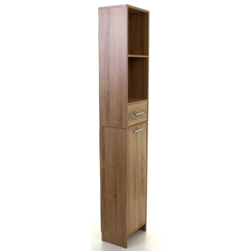Wood Effect Tall Boy Storage Unit