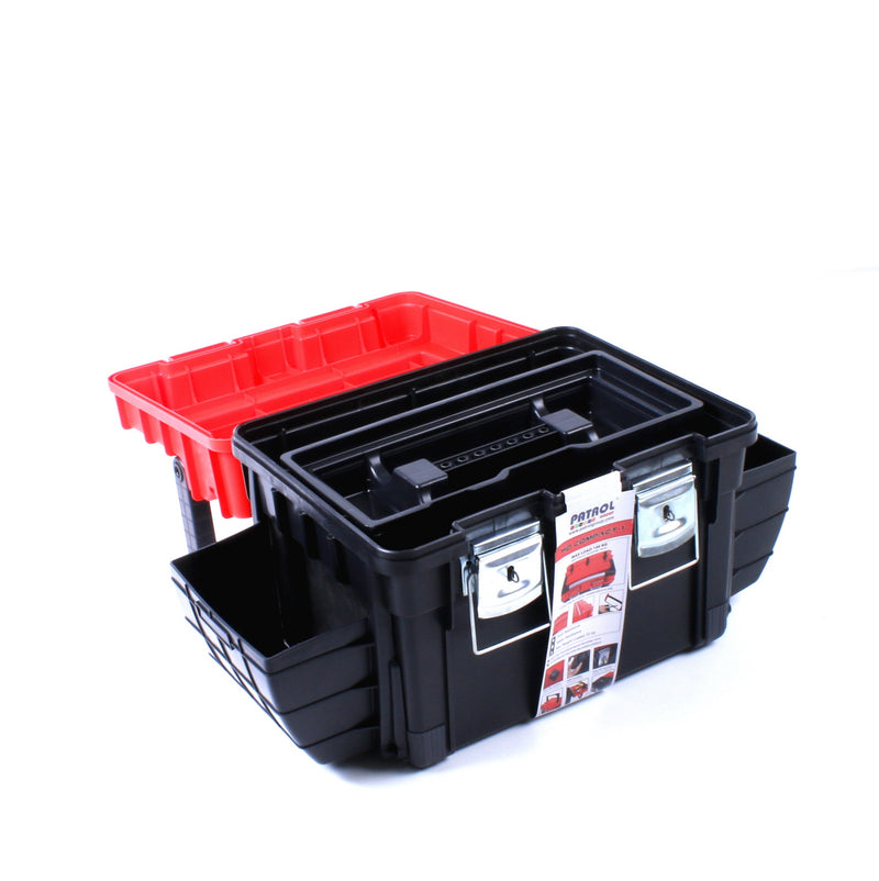 Compact Tool Box Black & Red