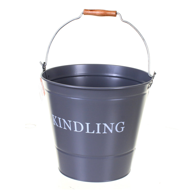Grey Kindling Bucket
