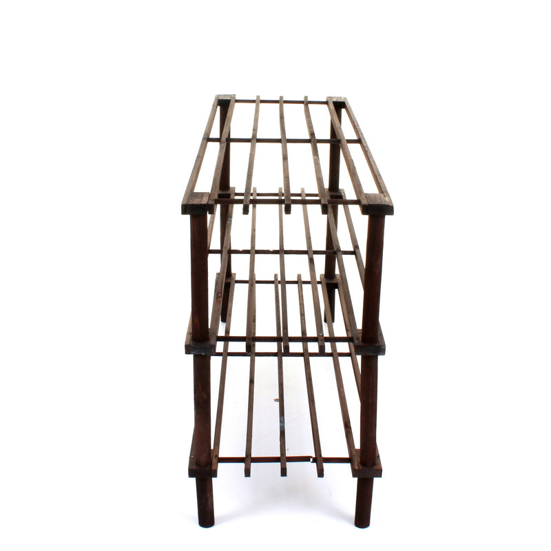 3 Tier Wooden Shoe Rack - Walnut