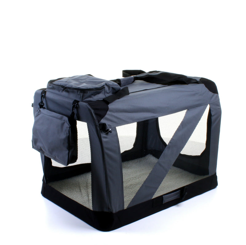 X - Large Fabric Pet Carrier - Grey