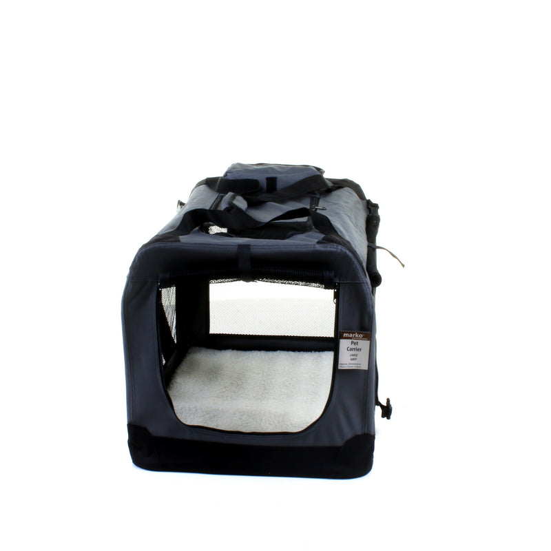 Large Fabric Pet Carrier - Grey