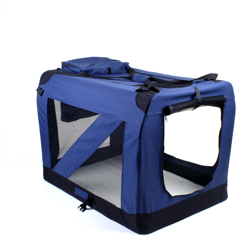 XX - Large Fabric Pet Carrier - Navy Blue