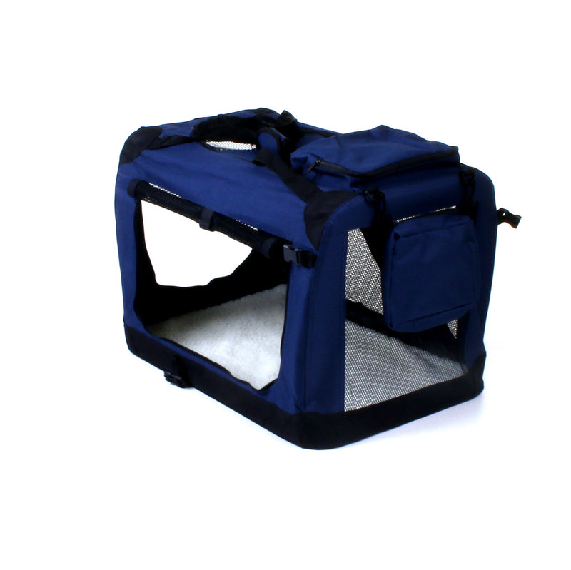 Medium Fabric Pet Carrier - Navy Blue