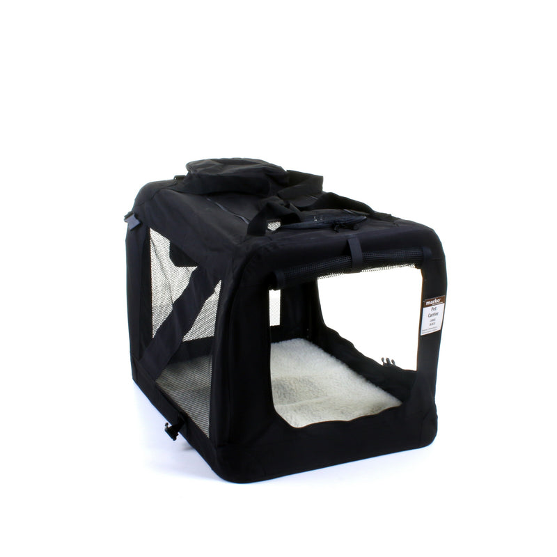 Large Fabric Pet Carrier - Black