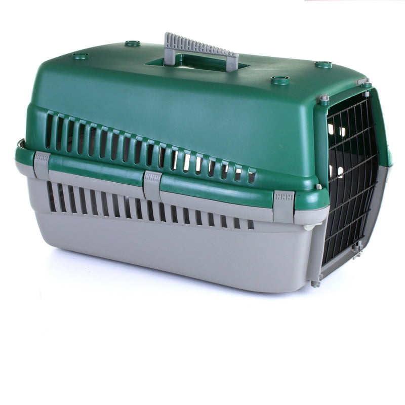 Large Grey/Green Pet Carrier