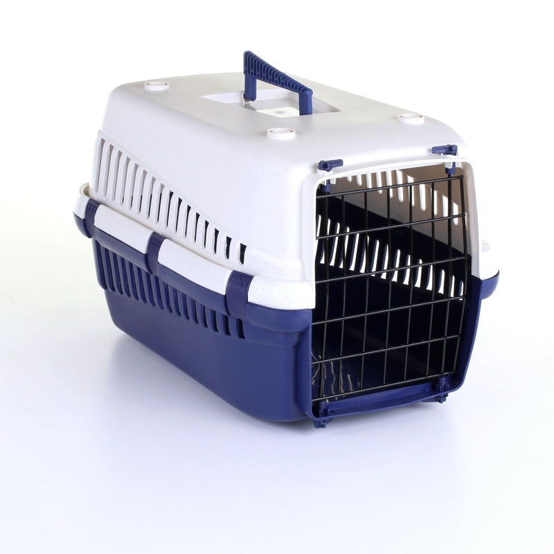 33cm Pet Carrier Blue/White