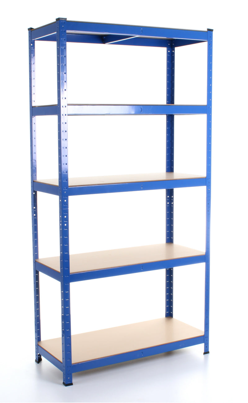1.8M 5 Tier Metal Shelving Unit - Blue