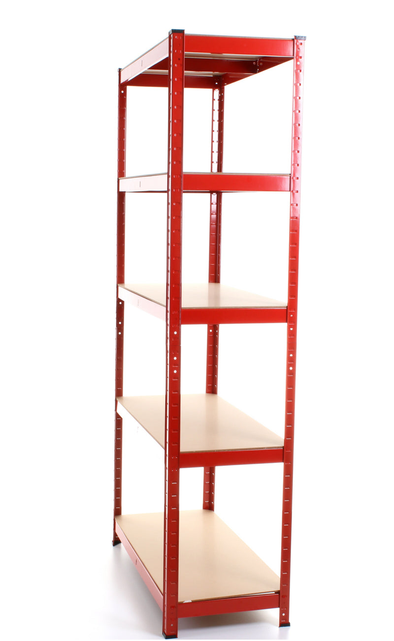 1.8M 5 Tier Metal Shelving Unit - Red