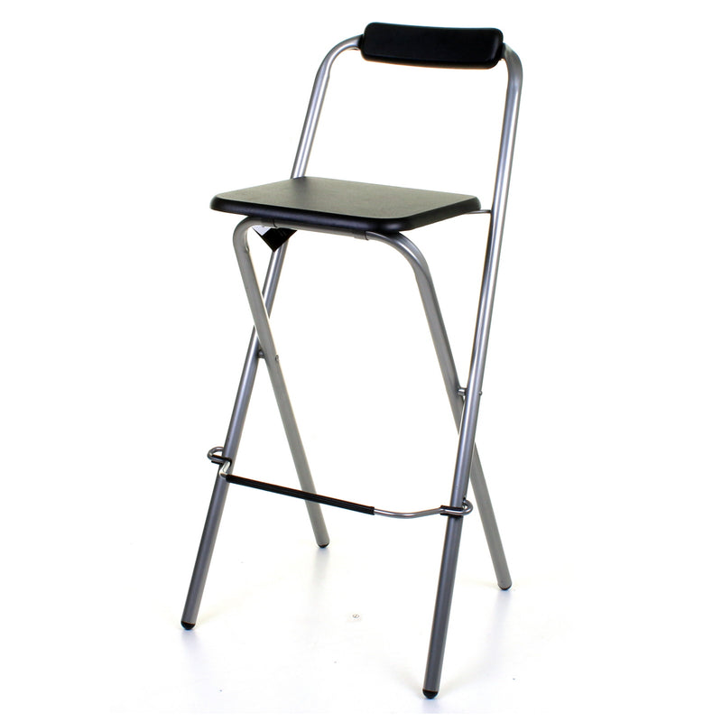 Folding Bar Stool - Black