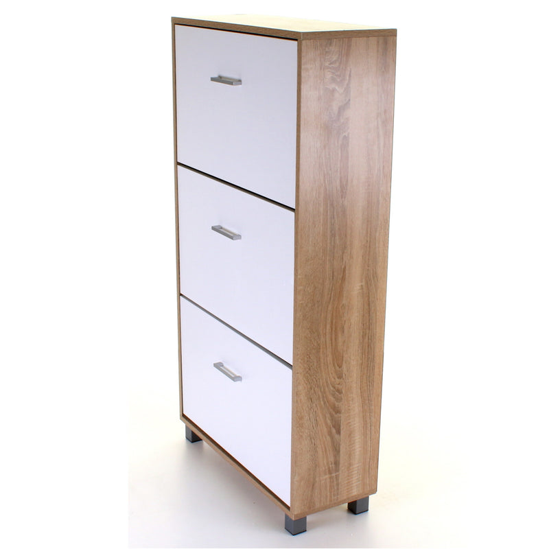 3 Draw Shoe Cabinet - White