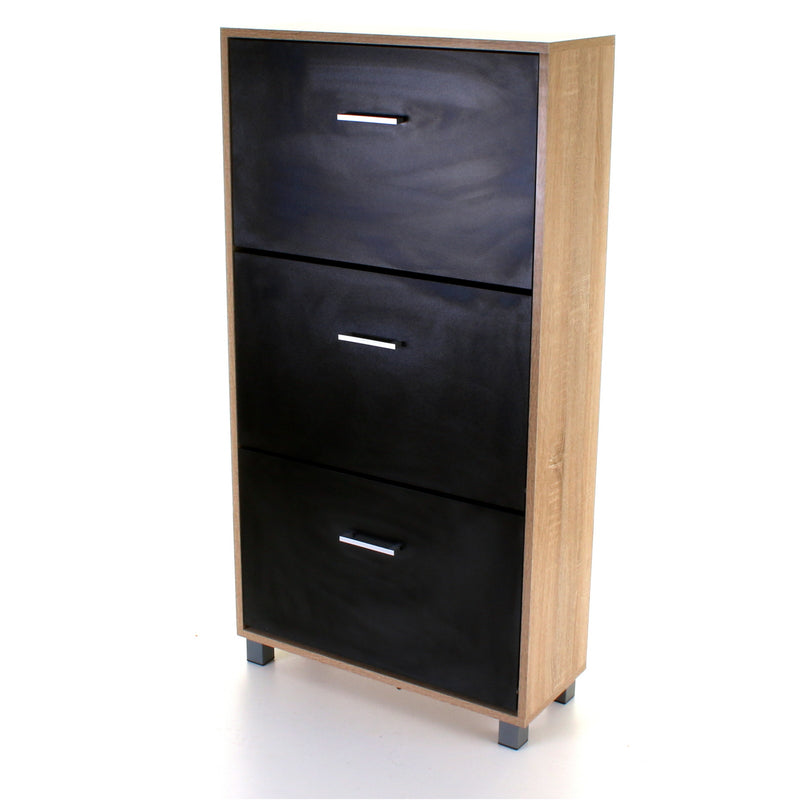 3 Draw Shoe Cabinet - Black