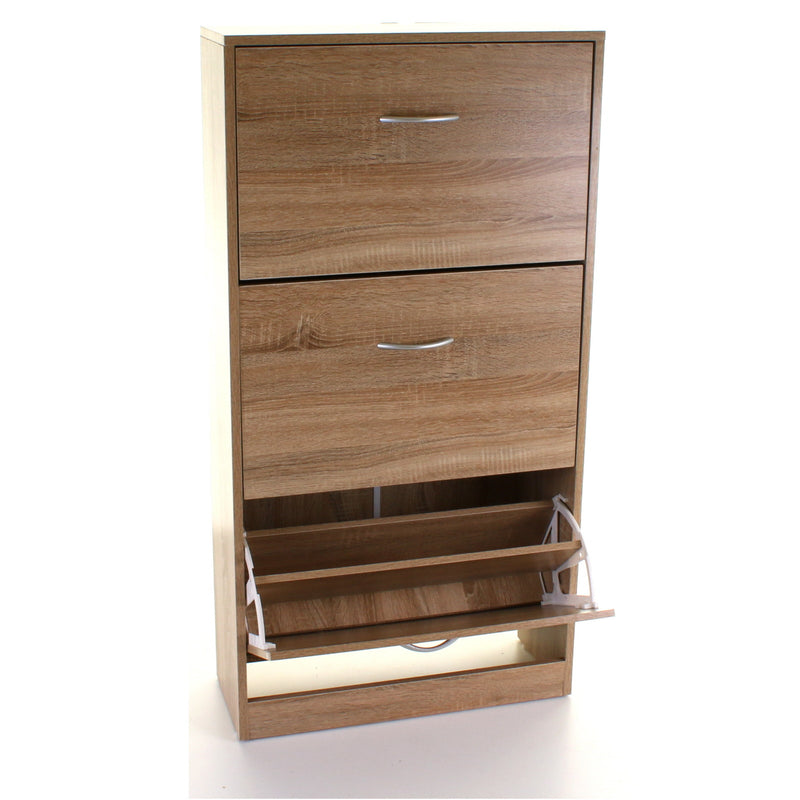 3 Draw Shoe Cabinet - Wood Effect