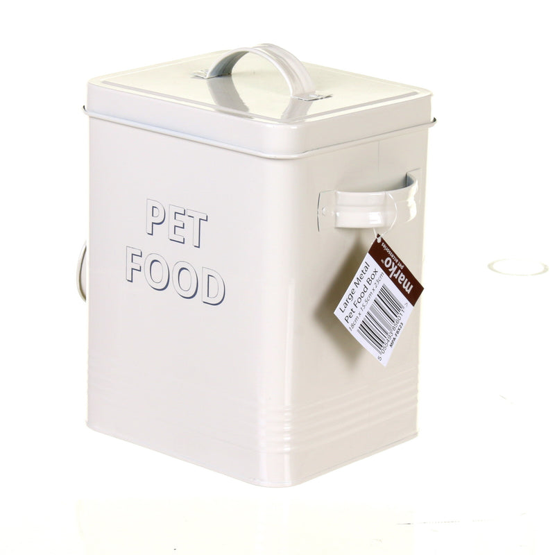 Large Metal Pet Food Box