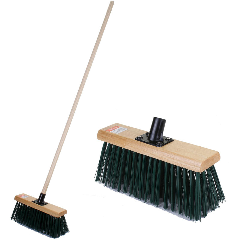 "12"" PVC Farmyard Broom with Handle"
