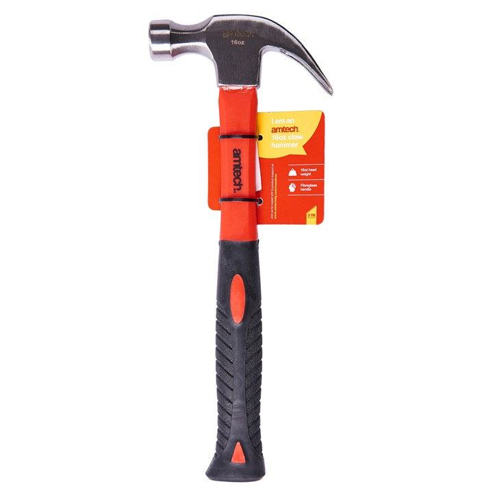 16oz Claw Hammer - Fibreglass Shaft