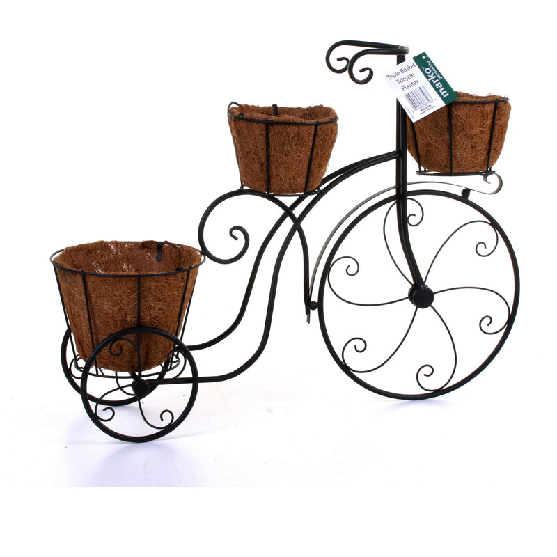 Triple Basket Tricycle Planter