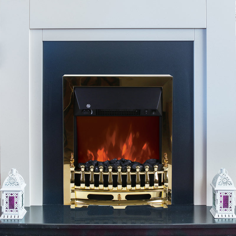 2000W Electric Fireplace - Gold