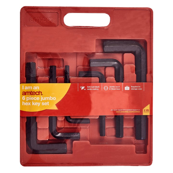 6pc Jumbo Hex Key Set