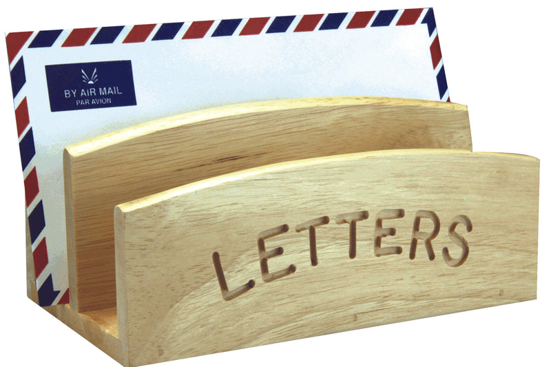 Letter Rack Hevea Wood