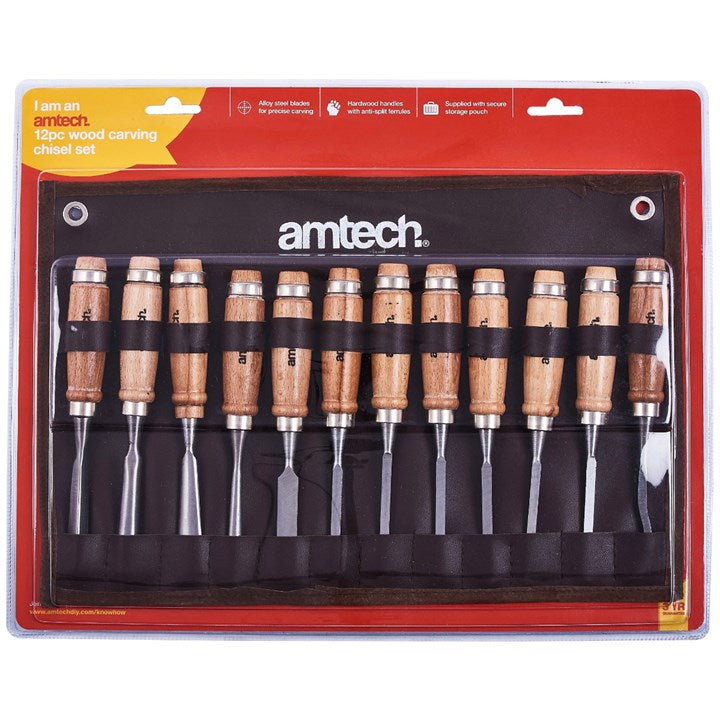 12pc Wood Carving Chisel Set