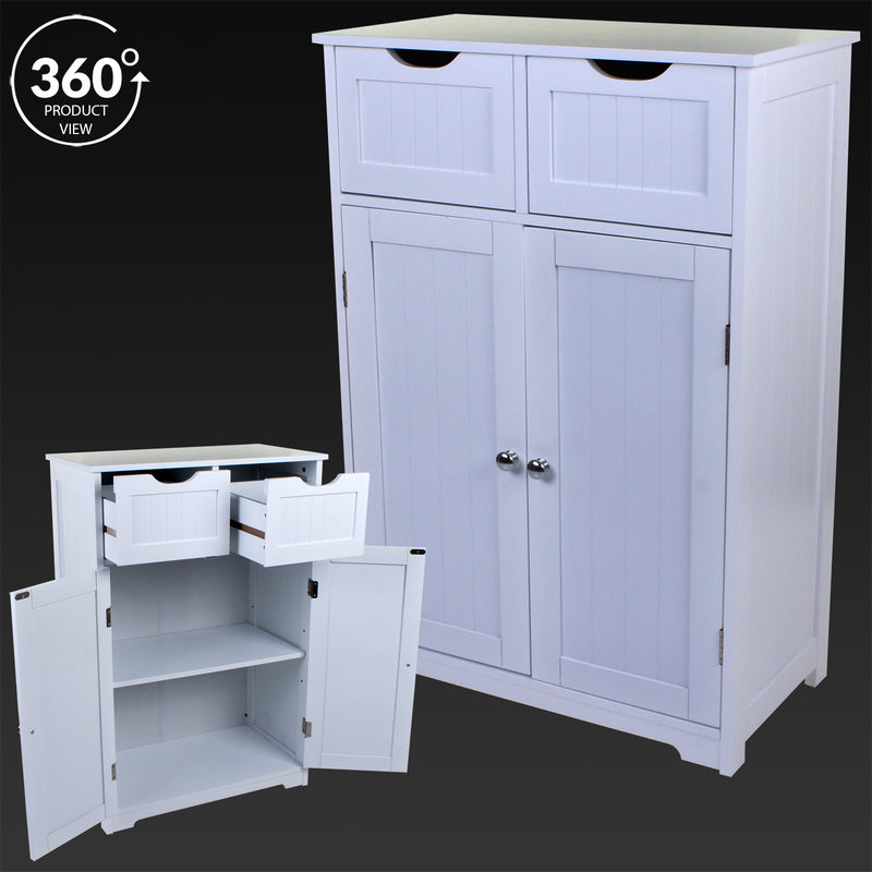 2 Door 2 Drawer Storage Cabinet
