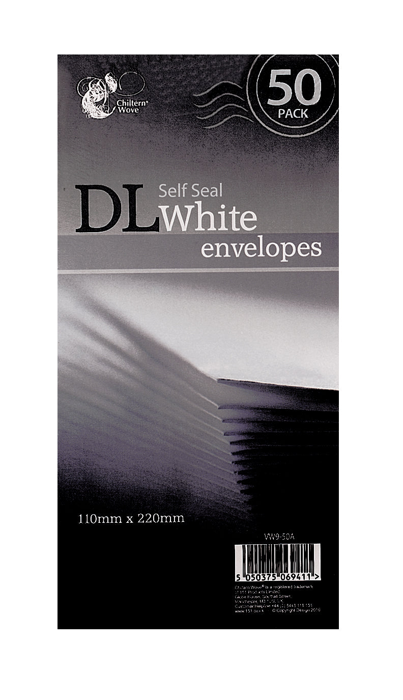 Envelopes Self Seal White DL 50pk