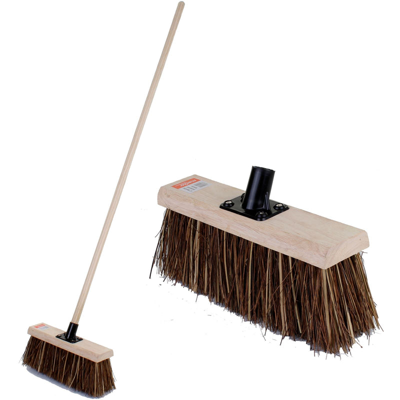 "12"" Bassine Farmyard Broom with Handle"