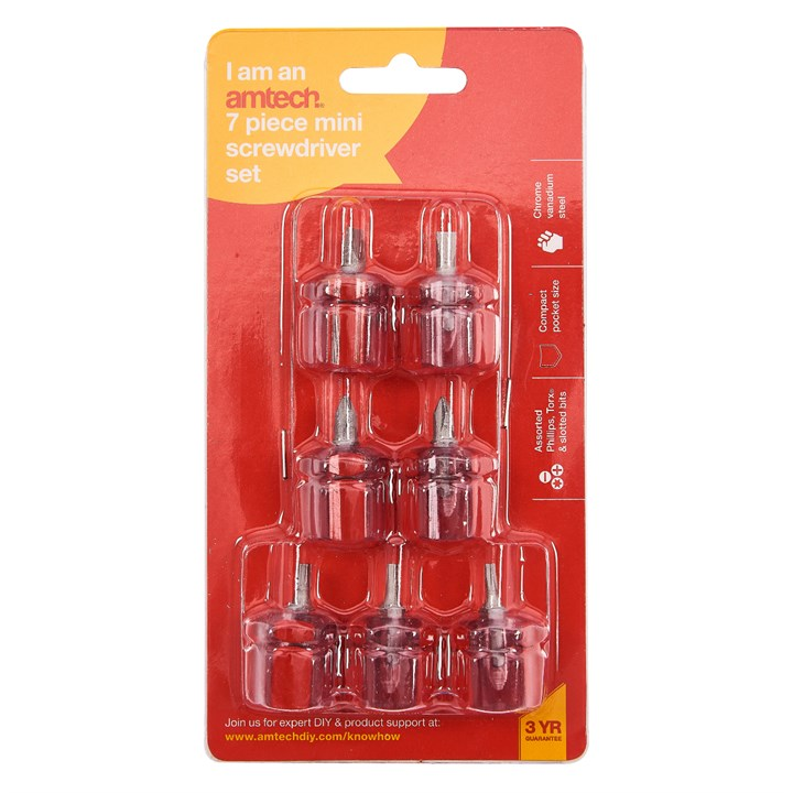 7pc Mini Screwdriver Set