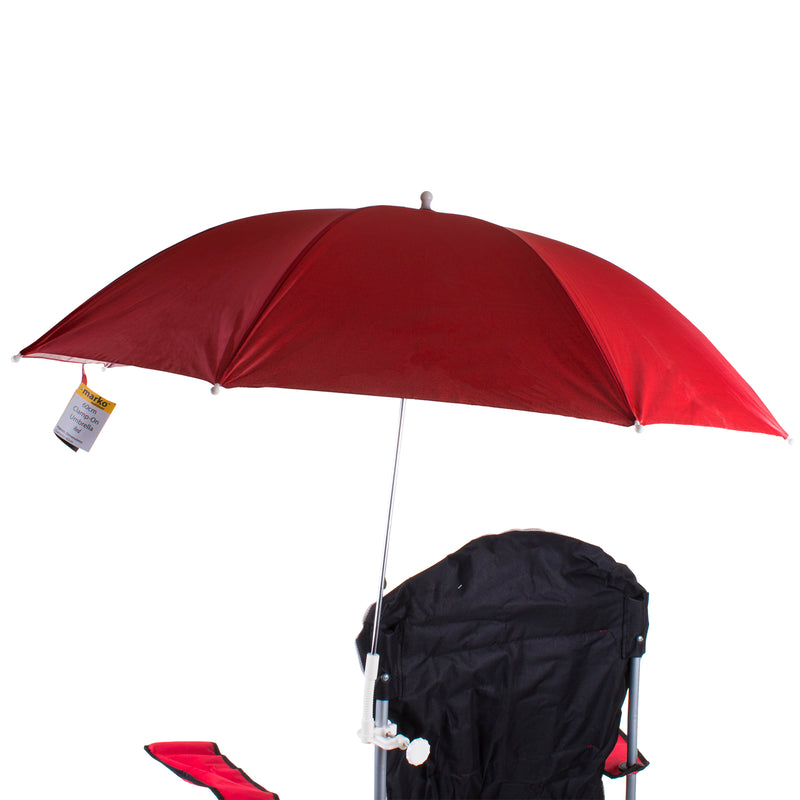 1M Clamp On Umbrella - Red