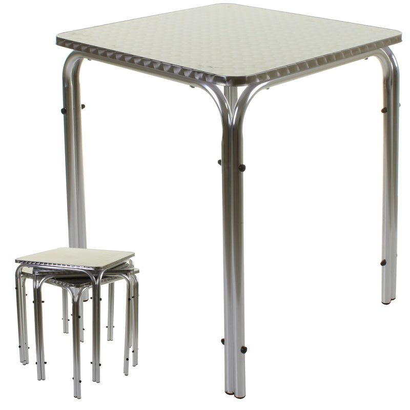 Barcelona Bistro Sets - Square Stacking Table