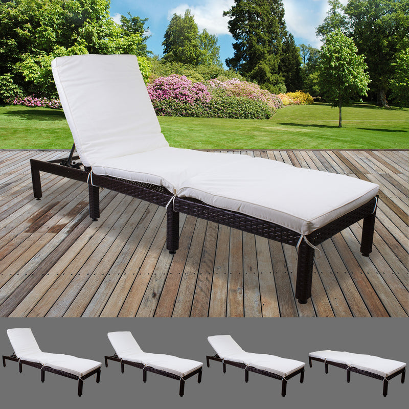 Dominica Sun Lounger - Cream