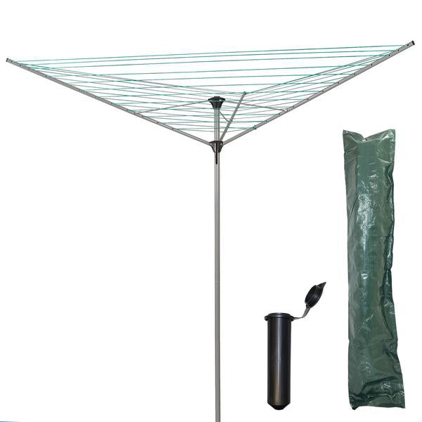 34M 3 Arm Rotary Airer with Cover