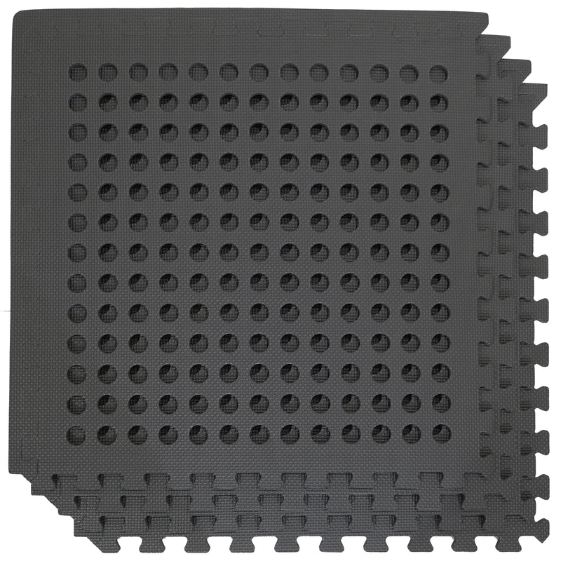 4PK Black Interlocking EVA Drainage Mats