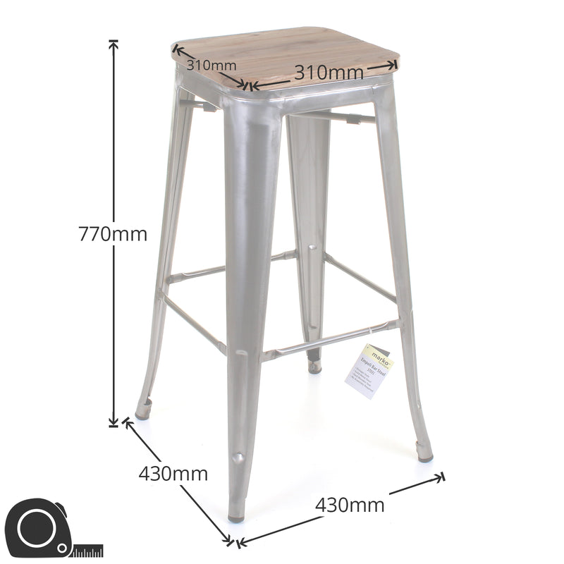 Firenze Bar Stool - Cream