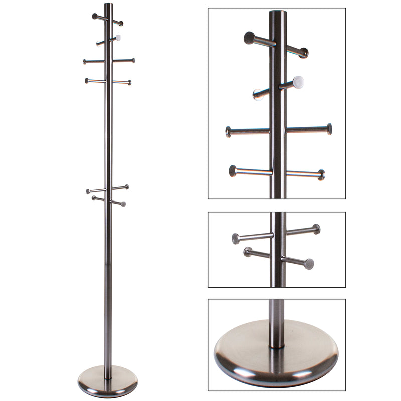 Satin Coat Rack - Straight Hooks